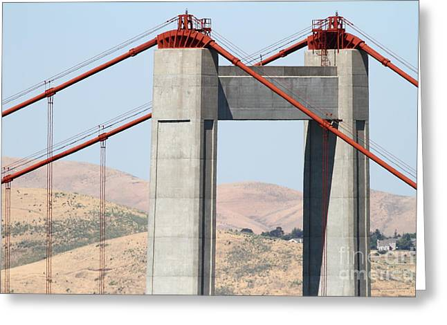 The New Alfred Zampa Memorial Bridge Aka The Carquinez Bridge . 7d168910 Greeting Card