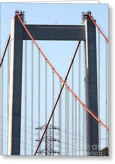 The New Alfred Zampa Memorial Bridge Aka The Carquinez Bridge . 7d16930 Greeting Card
