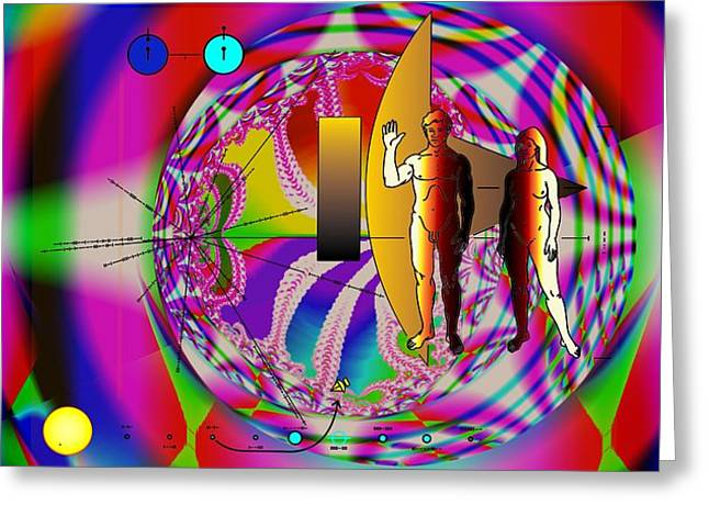 The New View Of Science Greeting Card by Helmut Rottler
