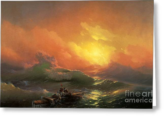 The Ninth Wave Greeting Card by Aivazovsky