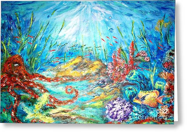 The Ocean Greeting Card by Mary Sedici