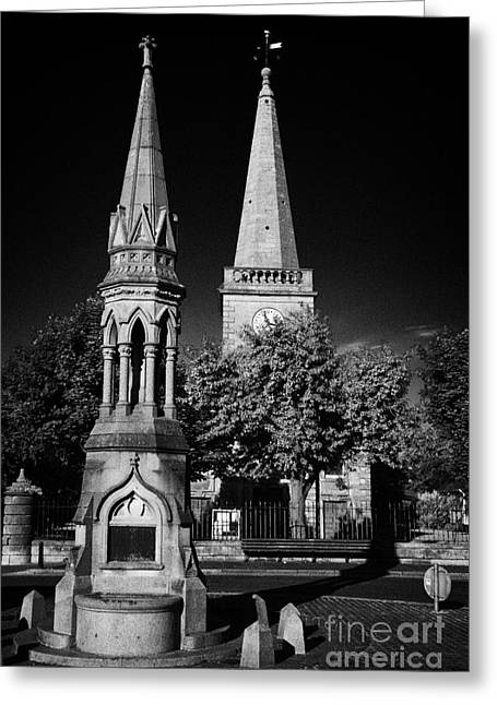 The Oconnor Monument In The Diamond Ballycastle Antrim Northern Ireland Greeting Card
