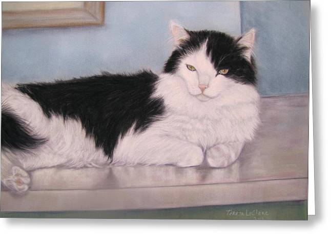 The Office Cat Greeting Card by Teresa LeClerc