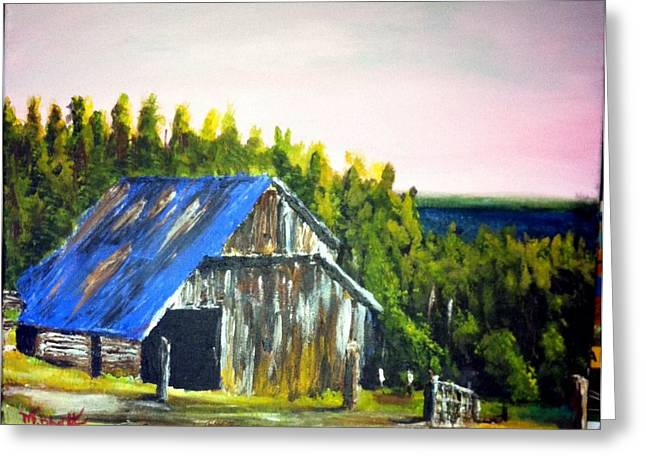The Old Barn Greeting Card by M Bhatt