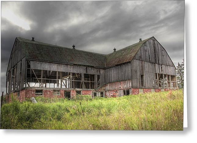Greeting Card featuring the photograph The Old Barn by Nick Mares