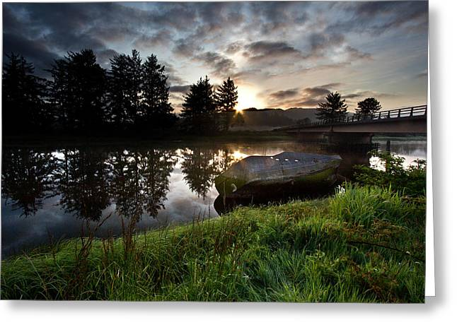 The Old Boat At Sunrise Greeting Card
