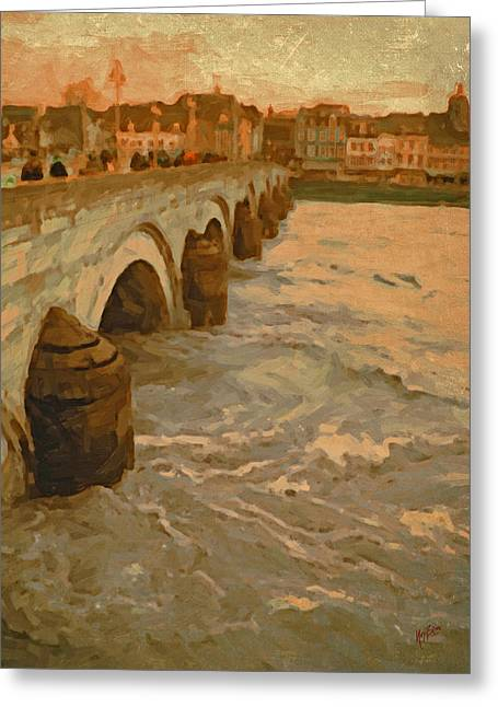 The Old Bridge In Maastricht Greeting Card