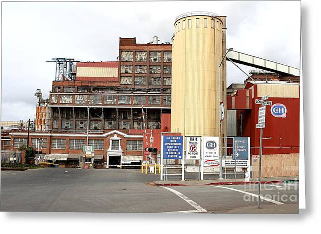 The Old California And Hawaii Pure Cane Sugar Company In Crockett California Greeting Card by Wingsdomain Art and Photography