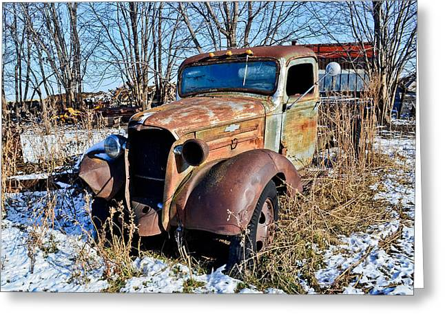 The Old Chevy Greeting Card by Brenda Becker