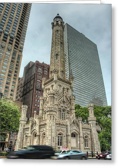 The Old Chicago Water Tower Greeting Card by Noah Katz