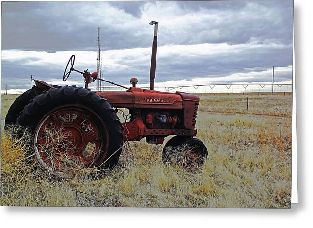 The Old Farmall Tractor 2 Greeting Card by Robin Cox