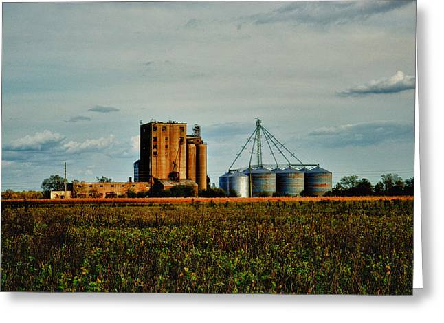 The Old Grain Mill Greeting Card by Kelly Reber