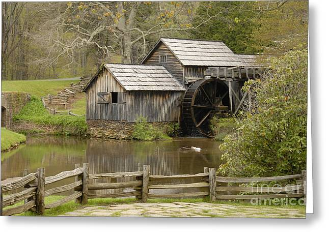 The Old Grist Mill Greeting Card by Cindy Manero