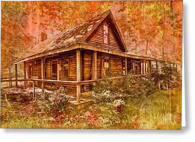 The Old Homestead Greeting Card by Debra and Dave Vanderlaan