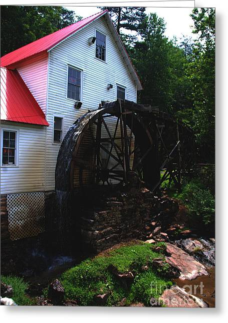 The Old Mill 1886 In Cherokee North Carolina - II  Greeting Card by Susanne Van Hulst