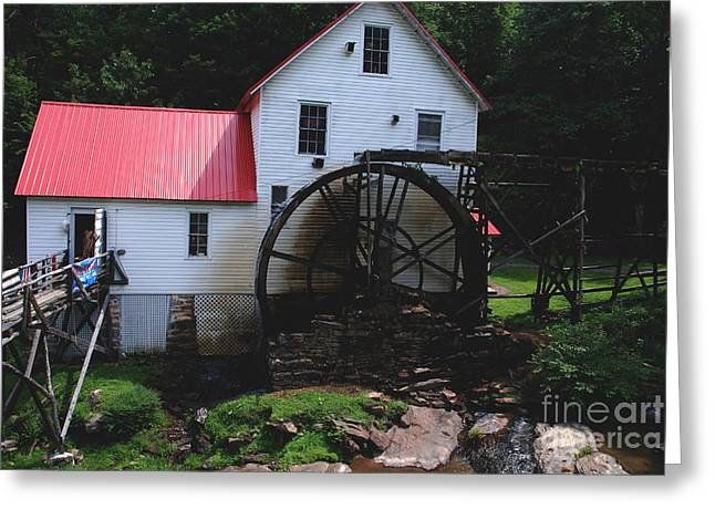 The Old Mill 1886 In Cherokee North Carolina Greeting Card by Susanne Van Hulst