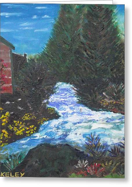 Greeting Card featuring the painting The Old Mill By The River by Martin Blakeley