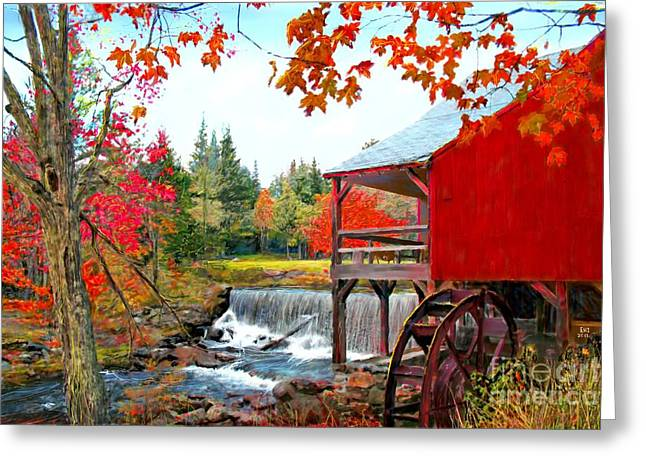 The Old Mill In Weston Vermont Greeting Card by Earl Jackson