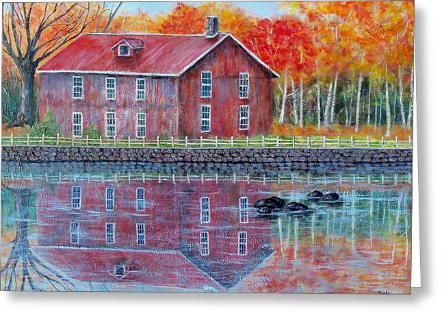 The Old Mill Greeting Card by Susan DeLain