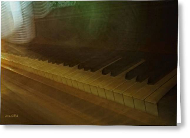 The Old Piano Greeting Card by Donna Blackhall