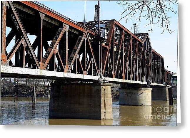 The Old Sacramento Southern Pacific Train Bridge . 7d11427 Greeting Card