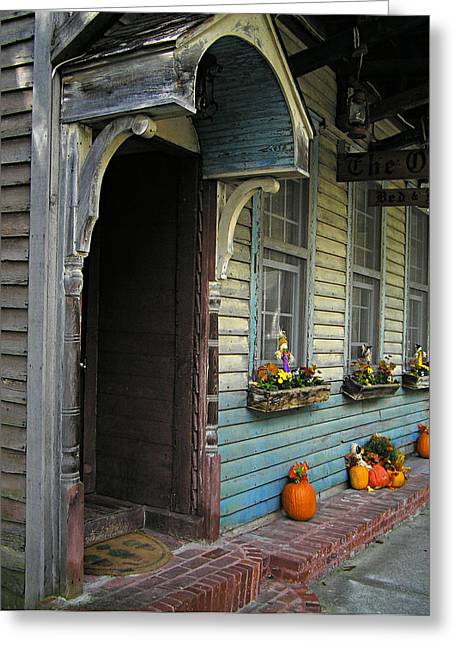 Greeting Card featuring the photograph The Olde B And B by Judy  Johnson