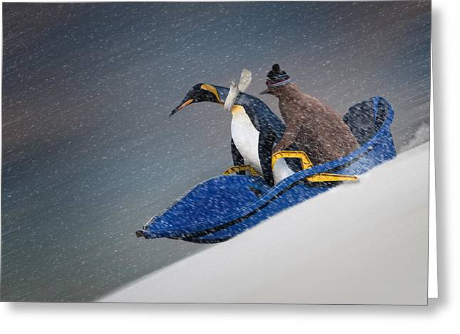 The Only Way To Travel Greeting Card by Paul Davis