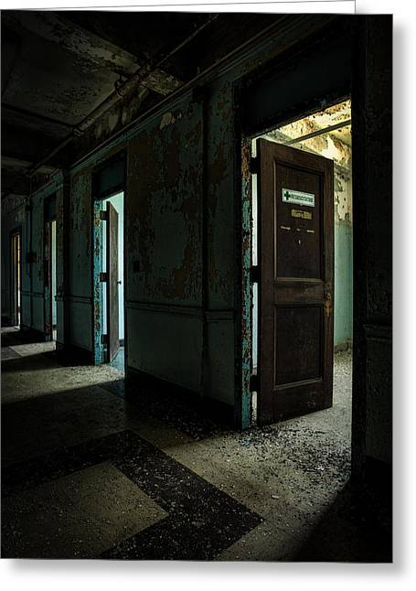 The Open Doors Greeting Card by Gary Heller