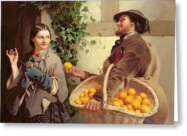 The Orange Seller  Greeting Card by William Edward Millner