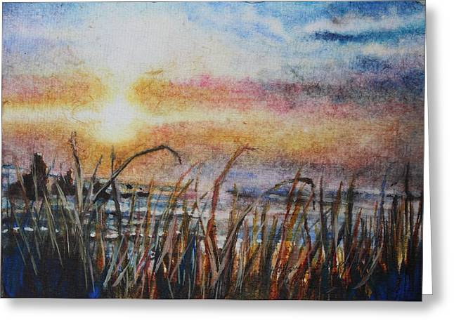 The Oregon Coast At Sunset Greeting Card