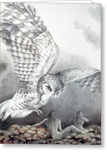 The Owl Of Athena Greeting Card