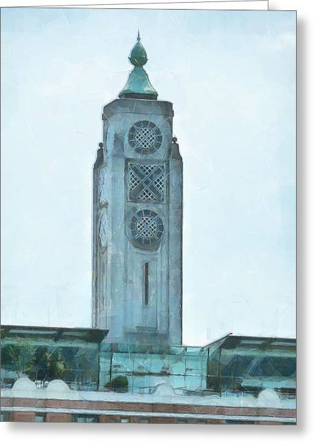 The Oxo Tower On London's South Bank Greeting Card