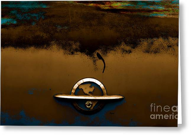 The Paint Of Corrosion  Greeting Card by Steven  Digman