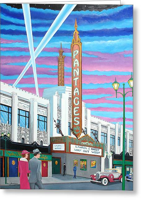 The Pantages Theatre Greeting Card