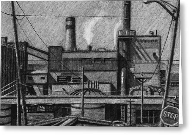 The Paper Mill In Everett Greeting Card by RX Bertoldi