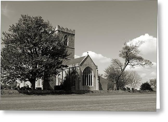 The Parish Church Of St Andrewbw Greeting Card
