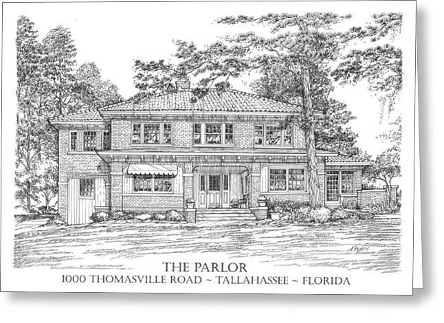 The Parlor Tallahassee Florida Greeting Card