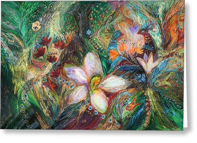 The Passion Of Green Greeting Card by Elena Kotliarker