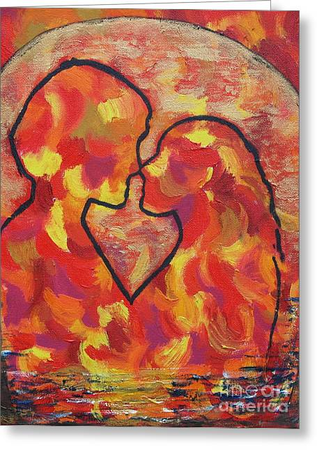 The Passion Of Romance Greeting Card by Evolve And Express