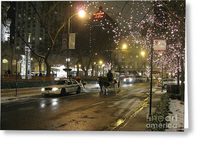 Greeting Card featuring the photograph The Past Meets The Present In Chicago Il by Ausra Huntington nee Paulauskaite