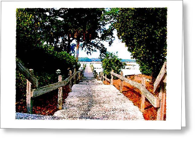 The Path Greeting Card by Brenda Leedy