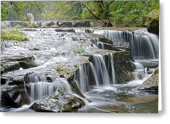 The Path To Sweet Creek Falls Greeting Card