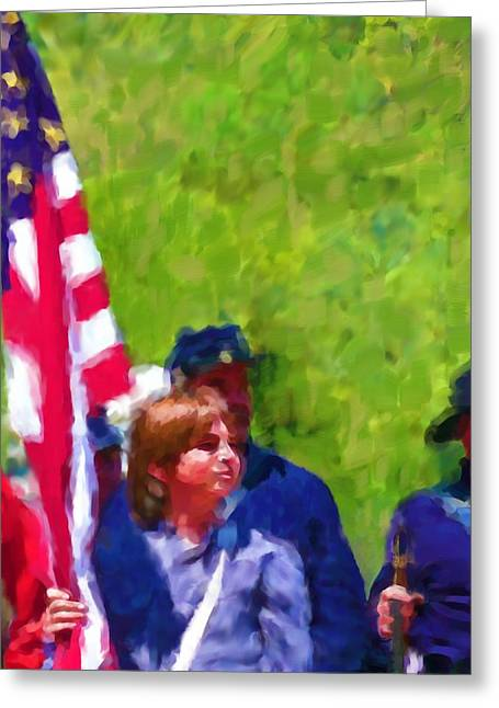 The Patriots Greeting Card by Cindy Wright