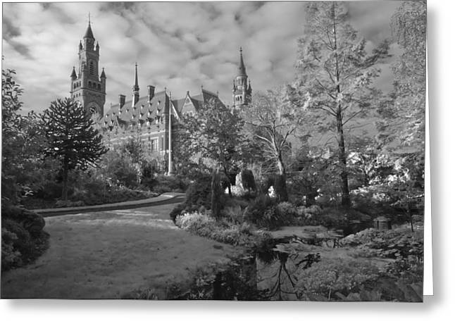 The Peace Palace The Hague The Netherlands Greeting Card by Dawn  Black