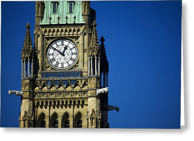 The Peace Tower, On Parliament Hill Greeting Card