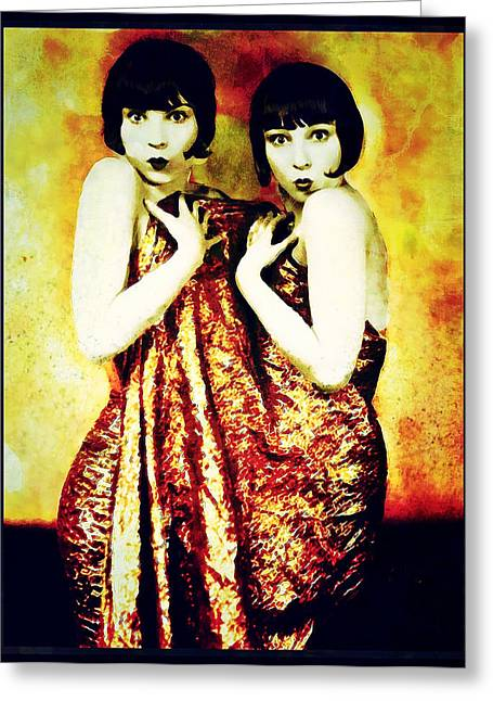 Greeting Card featuring the photograph The Pearl Twins by Mary Morawska