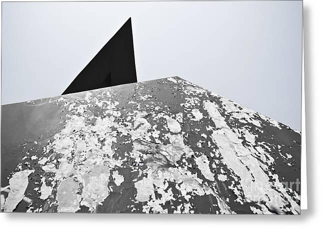 The Peeling Pyramids Greeting Card by L E Jimenez