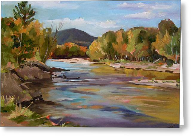 The Pemi In Autumn One Greeting Card