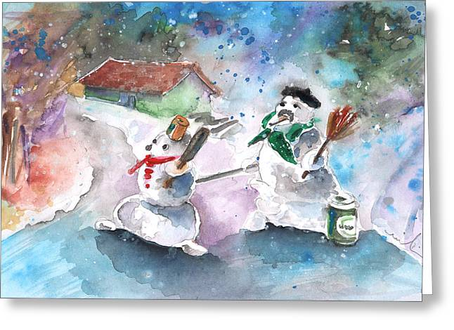 The People From The Troodos Mountains Greeting Card by Miki De Goodaboom