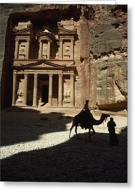 The Pharaohs Treasury Or Khazneh Greeting Card